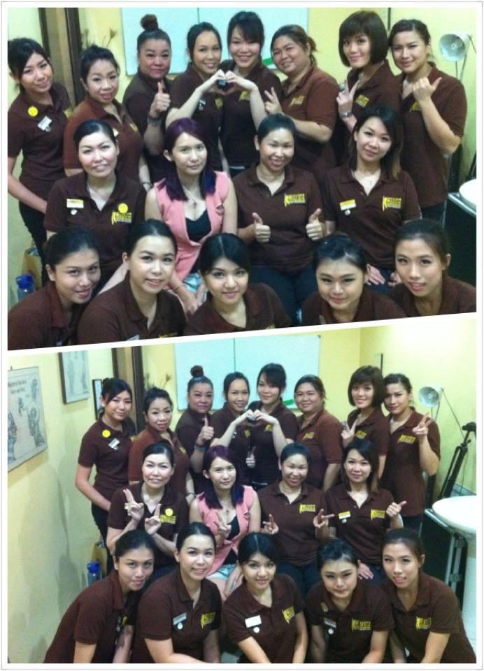 Elaine Leong makeup training
